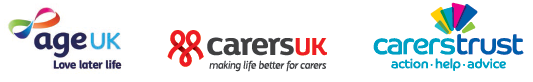 Age UK, Carers UK, Carers Trust combined logo